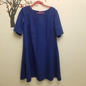 AVENUE Textured Polka Dot Fit & Flare Dress 18/20